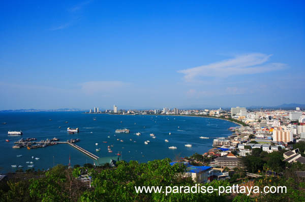 day skyline. Pattaya Skyline during the day