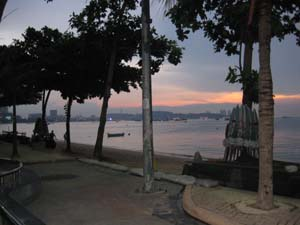 the pattaya beach sunset