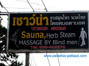 massage in Pattaya from a blind man