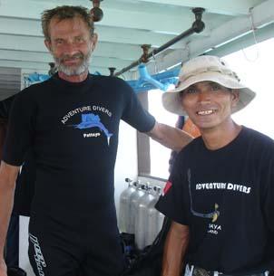 diving pattaya scuba with robert