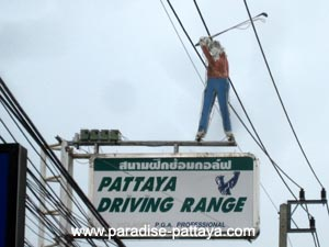 pattaya driving range sign