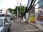 Electrical lines hanging in Pattaya