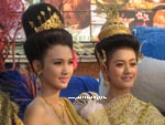 Thai dancers posing