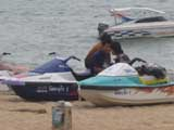 jetskis at dongtan beach