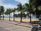 jomtien beach from a baht bus