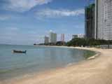 Empty beach at noon