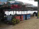 deck chairs on Pattaya Beach road