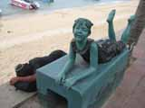 statue on Pattaya beach road
