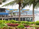 beer garden on Pattaya's beach road