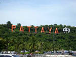Pattaya City Sign from the Pier
