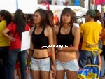 Pattaya girls holding hands