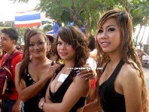 Pattaya girls during international mardi gras
