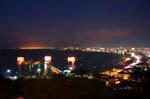 Вид на ночную Паттайю
