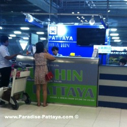 Pattaya travel ticket counter