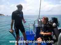 1 on 1 instructing on Pattaya boat