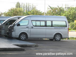 typical pattaya visa run mini bus
