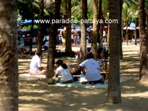 massage in front of avalon beach resort dongtan beach