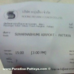 bus ticket to Pattaya from the airport